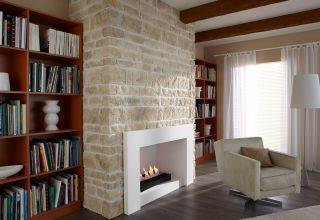 a bioethanol fireplace in a traditional home