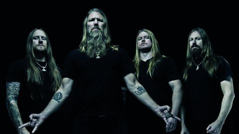 Amon Amarth in a press shot for their album Jomsviking