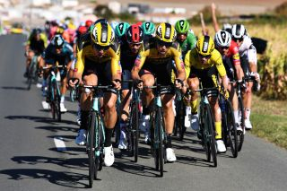 Primoz Roglic supported by Jumbo-Visma during stage 10 at the Tour de France