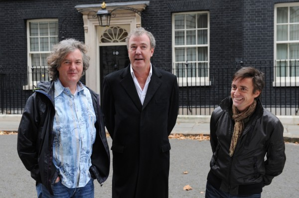 Top gear presenters James May, Richard Hammond and Jeremy Clarkson