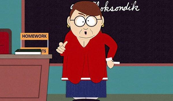 Unpopular 4th grade teacher at South Park Elementary, Ms. Choksondik