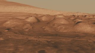 Rock Layers in Lower Mound in Gale Crater