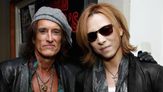 A picture of Joe Perry and Yoshiki
