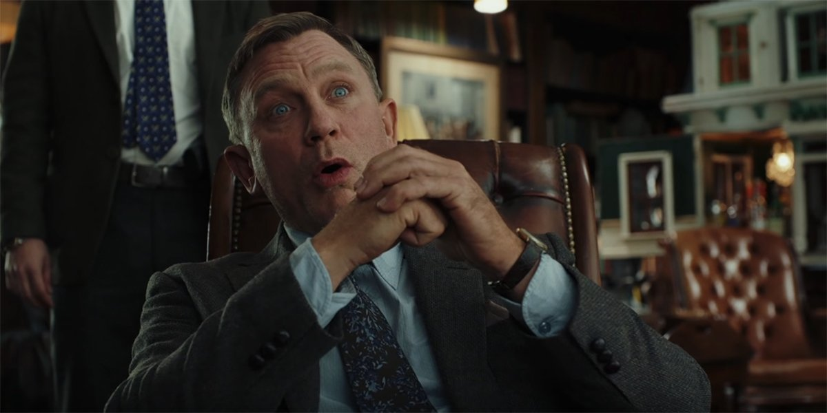 Daniel Craig hamming it up in Knives Out