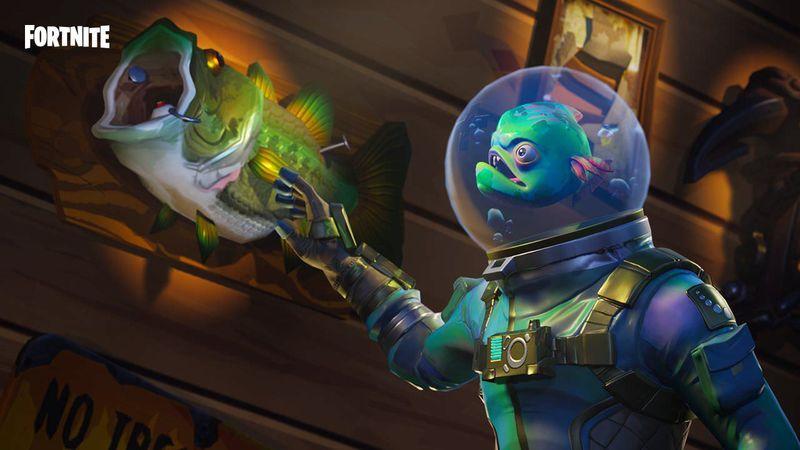 A Fortnite skin for a fish in a helmet