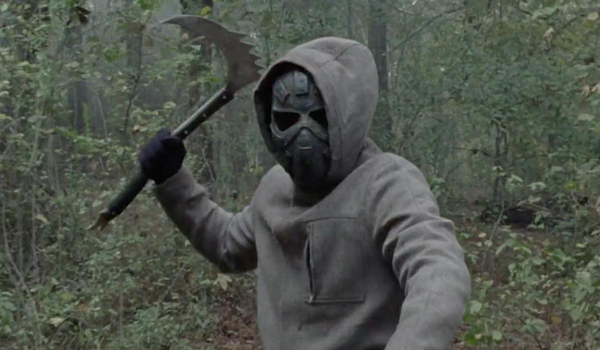 walking dead metal mask man season 10