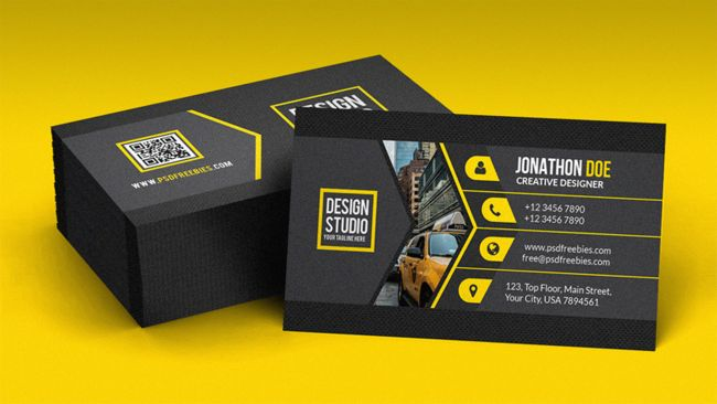 Free business card templates: Black
