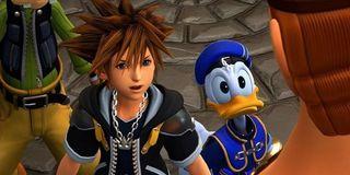 Goofy, Sora and Donald in Kingdom Hearts 3.