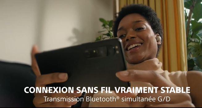 Sony Xperia 1 iii taken in promotion WF-1000XM4?