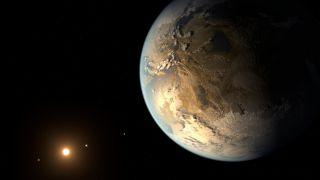 Kepler-186f Exoplanet Ilustration