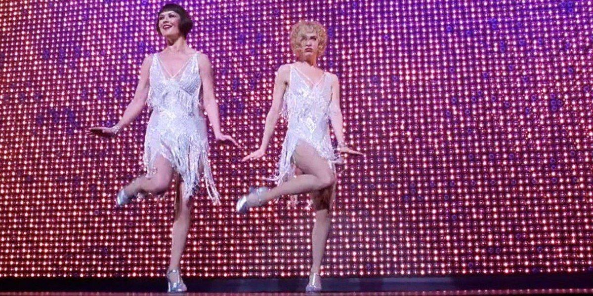 Catherine Zeta-Jones on the left
