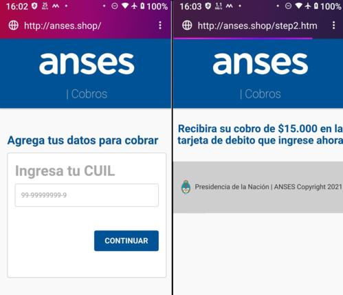 Fernando Cassia phishing email