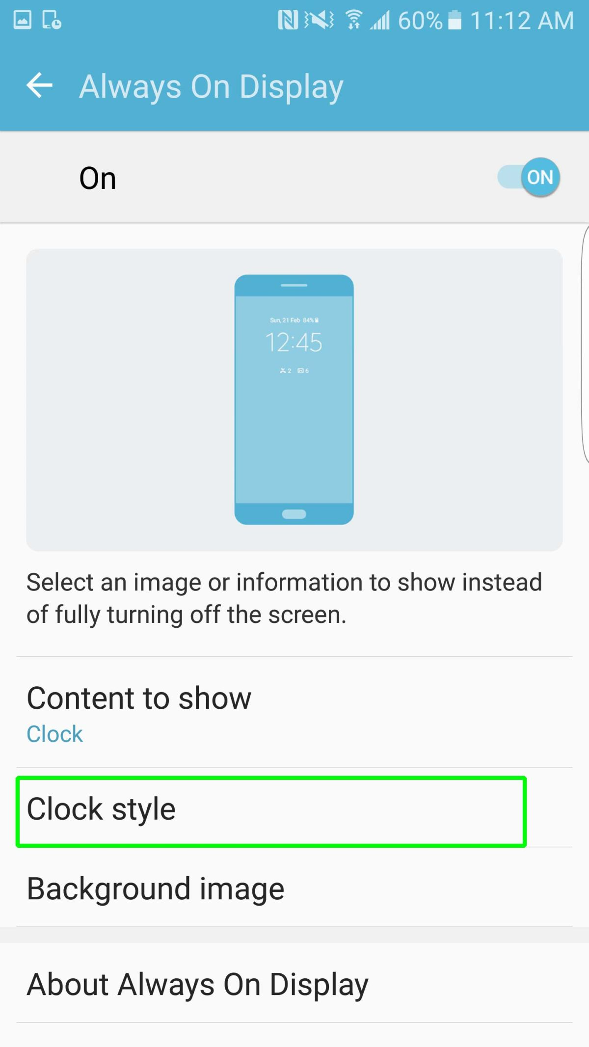 How to Set Up Always On Display on Your Galaxy S7 - Samsung Galaxy