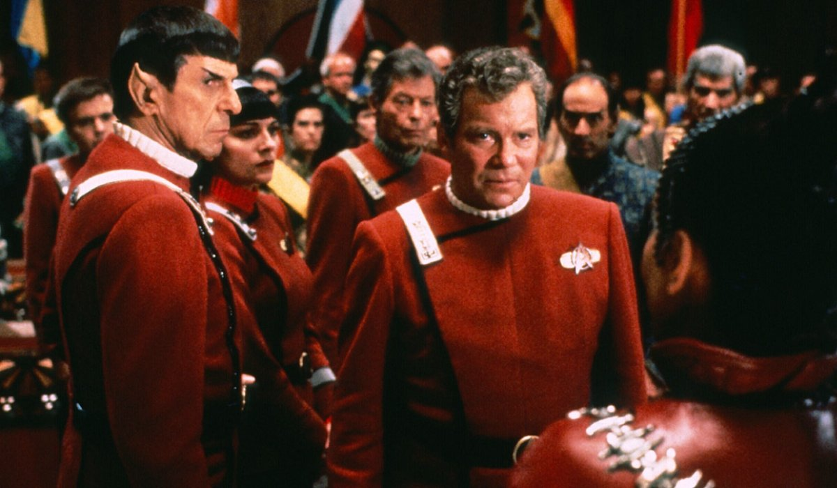 Star Trek VI: The Undiscovered Country Spock and Kirk at a conference
