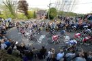 Cyclists on the Huy in the 2014 Flèche Wallonne. Photo: Graham Watson