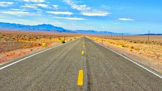 one point perspective: road and horizon