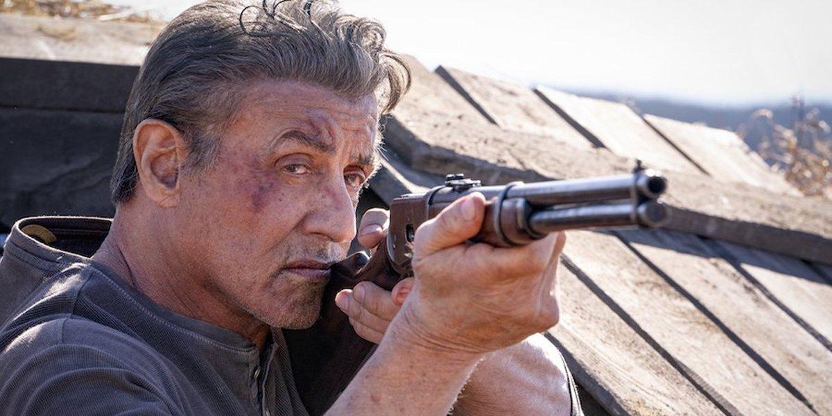 Rambo: Last Blood Sylvester Stallone aims gun