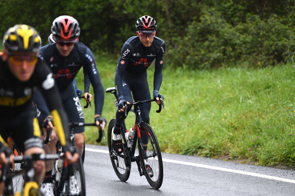 Tao Geoghegan Hart was back racing at the Itzulia Basque Country