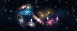 A galaxy pileup