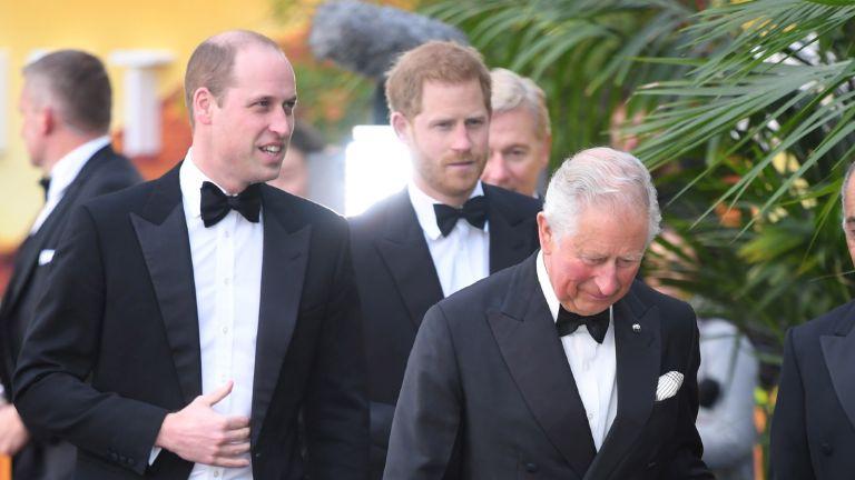 Princes william prince harry and prince charles