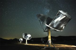 The SETI Institute's Allen Telescope Array (ATA) searches our galaxy for radio signals from potential intelligent alien life.