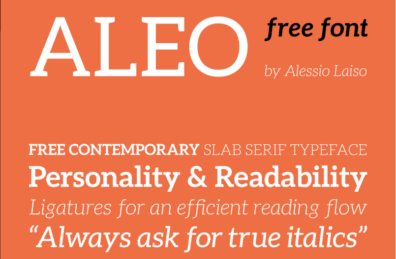 Best free fonts: Aleo