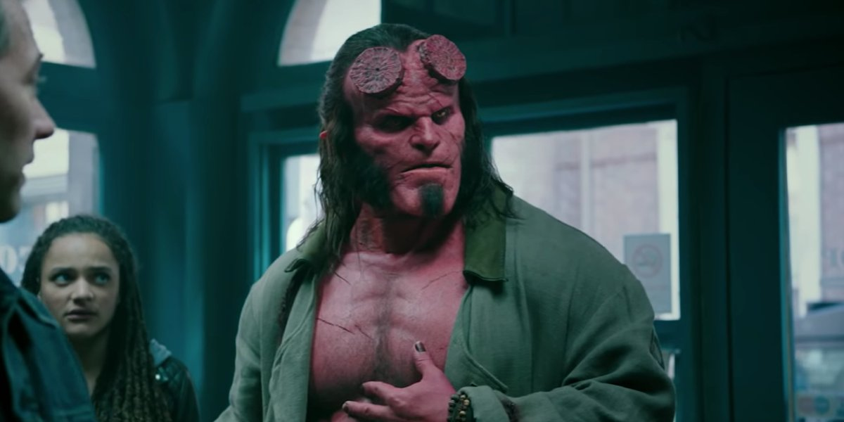 David Harbour as Hellboy in 2019