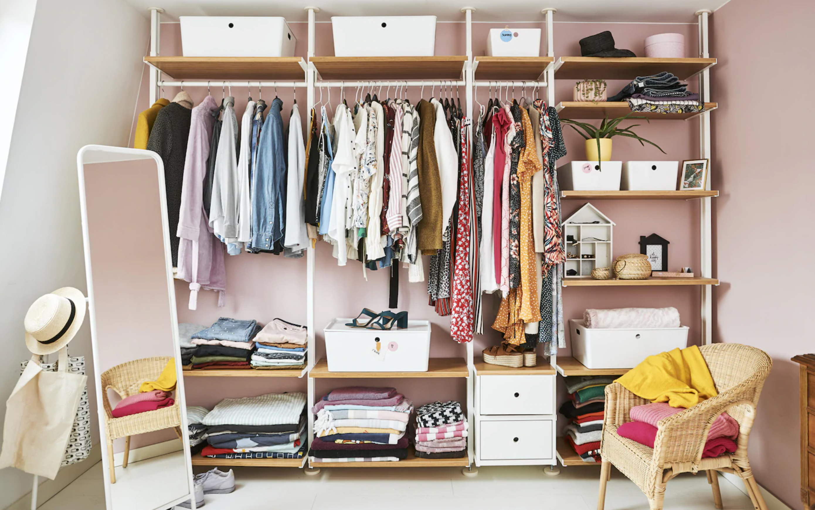 15 Stylish Walk In Closet Ideas For Even The Smallest Of Bedrooms Real Homes