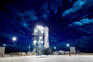 Blue Origin's New Shepard on the Pad