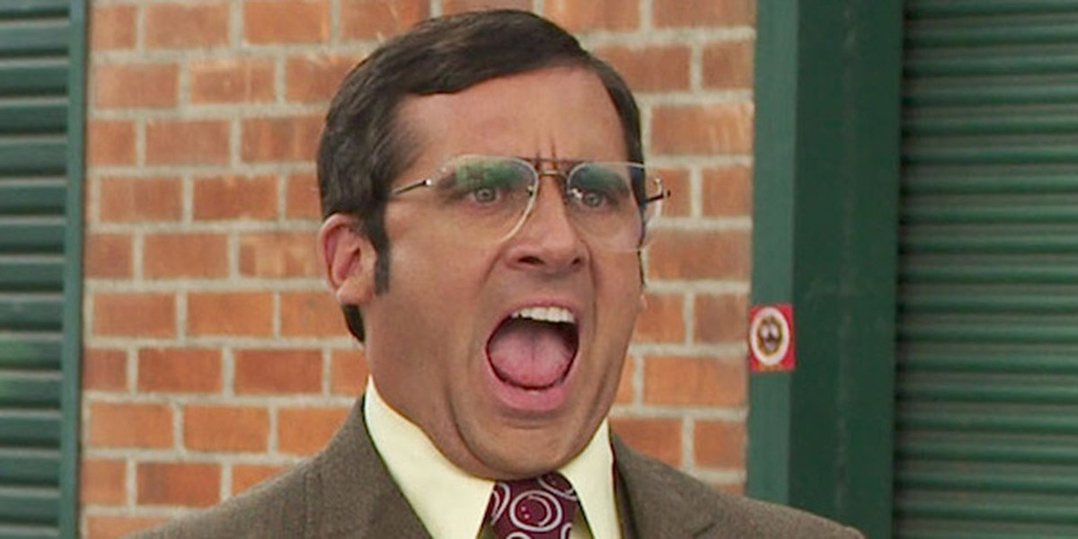Steve Carell in Anchorman: The Legend of Ron Burgundy