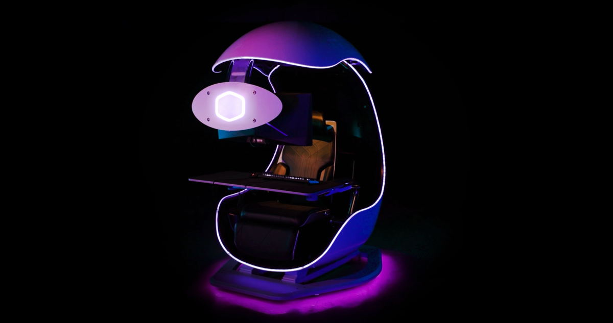 Cooler Master Adds Gaming Pod Battlestation, Haptic Feedback to Chair Lineup