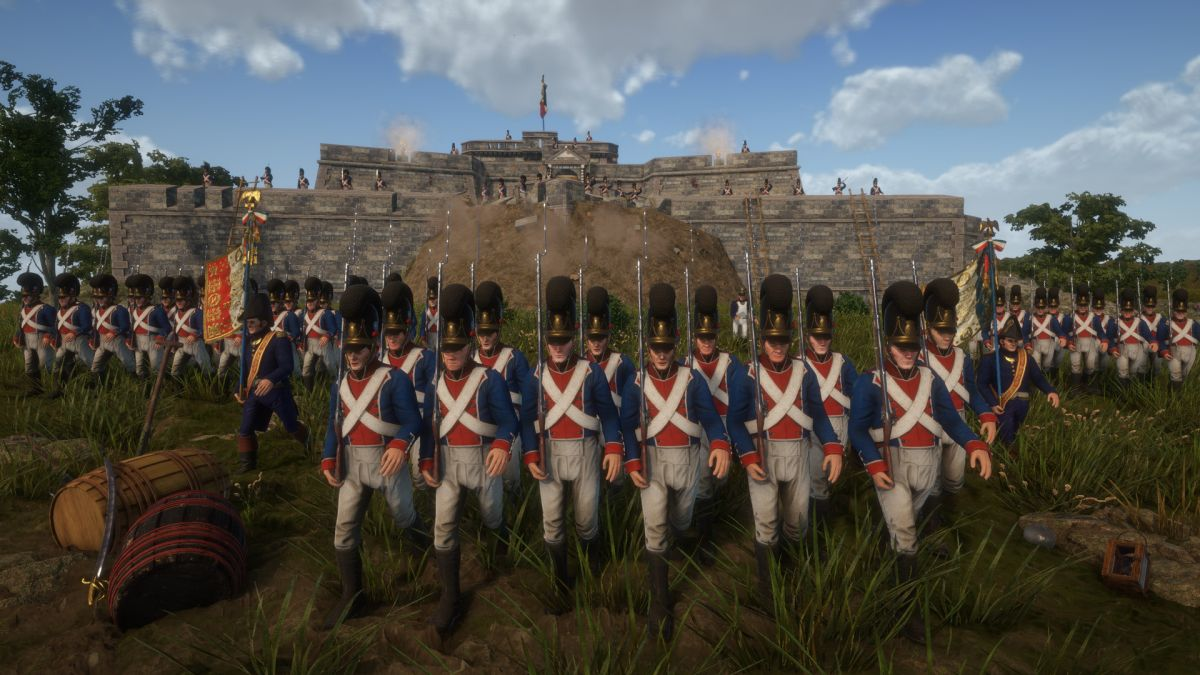 Napoleonic wars shooter Holdfast has lovely new marching animations and mods