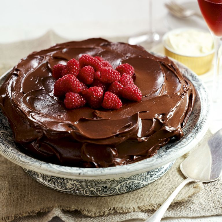 Dark Chocolate and almond Torte-cake-desert-cooking-woman and home