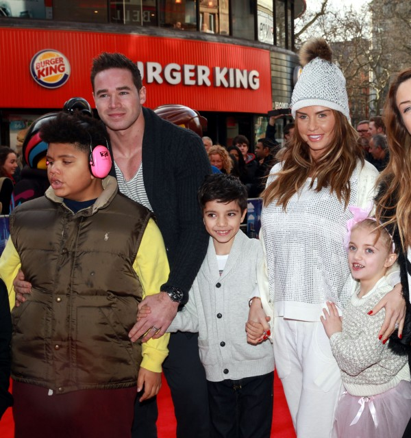 Katie Price with Kieran Hayler and her children Harvey, Junior and Princess (Sean Dempsey/PA)