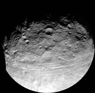 Asteroid Vesta Troughs