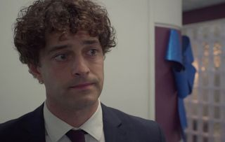 Holby, Lofty (Lee Mead) dumps Dom