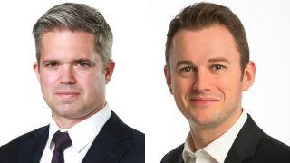 KC Sullivan (left) and Andrew Mortimer