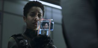 Dominique Tipper in Season 5 of The Expanse on Amazon Prime Video.