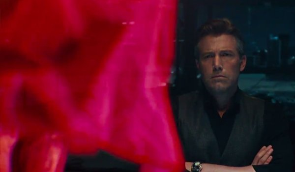 Bruce Wayne Observes A Superman Hologram