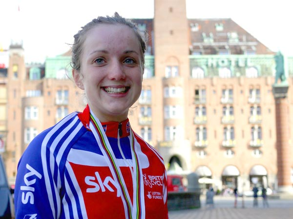 Elinor Barker, silver medallist, junior women's time trial, Road World Championships 2011