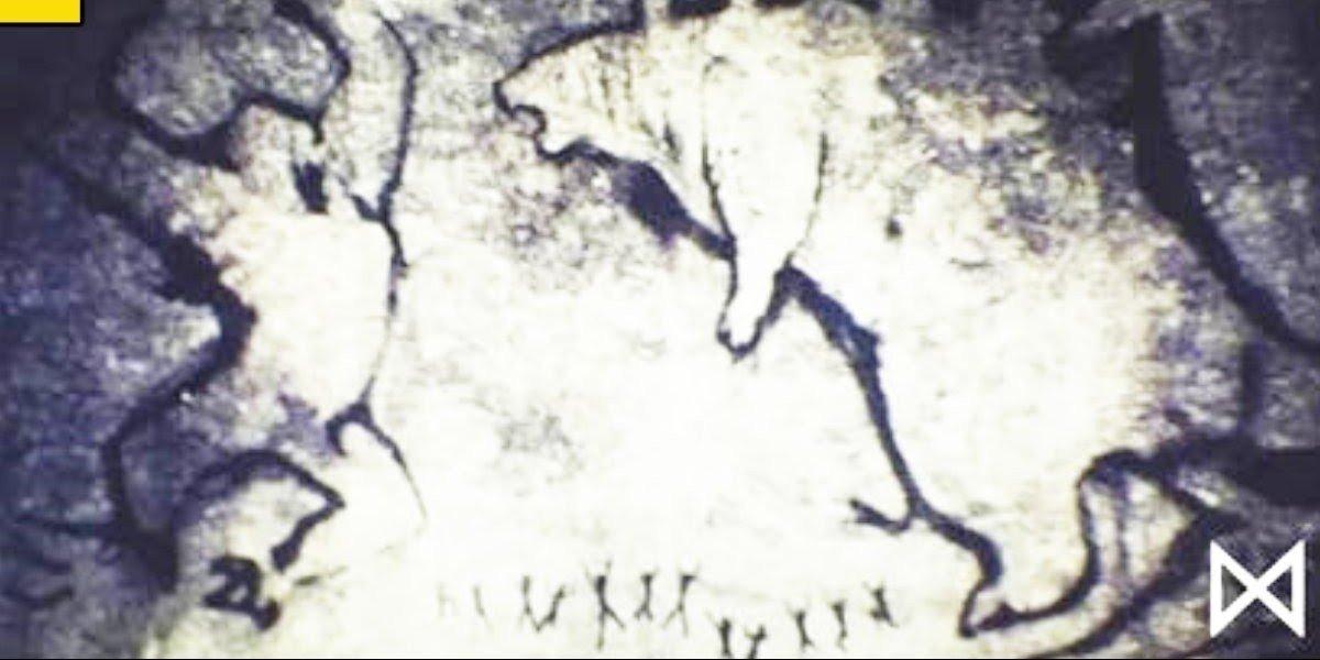 Cave drawings of King King Vs. Godzilla