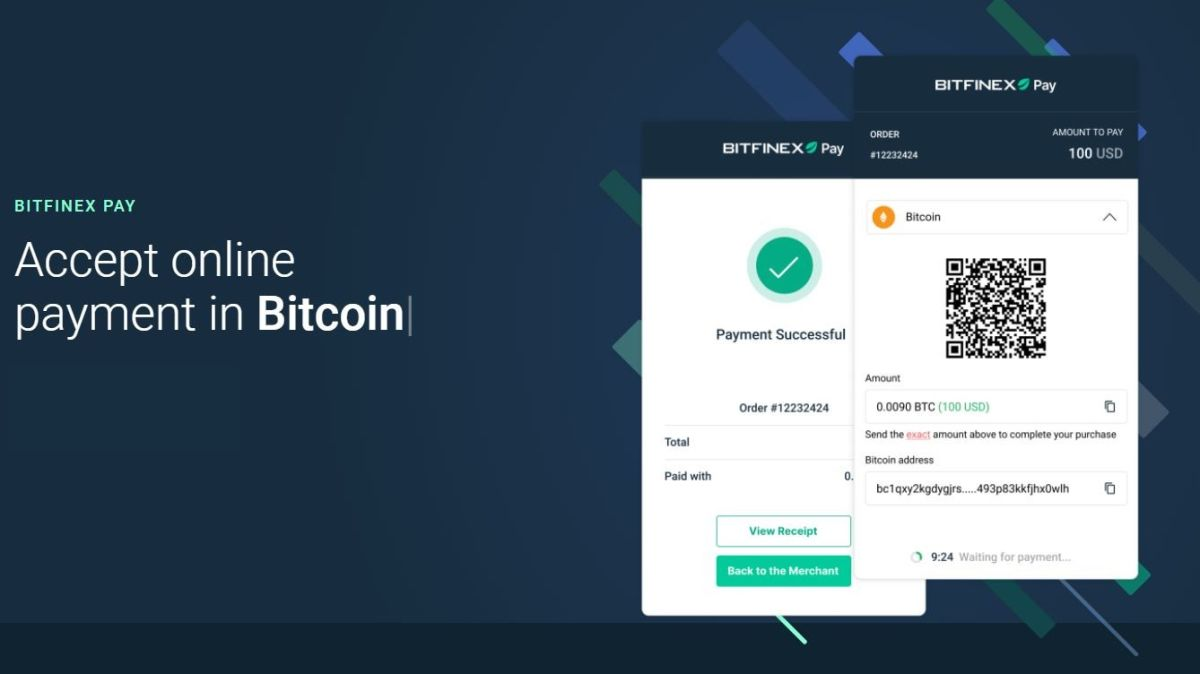 Bitfinex launches system for contactless crypto payments
