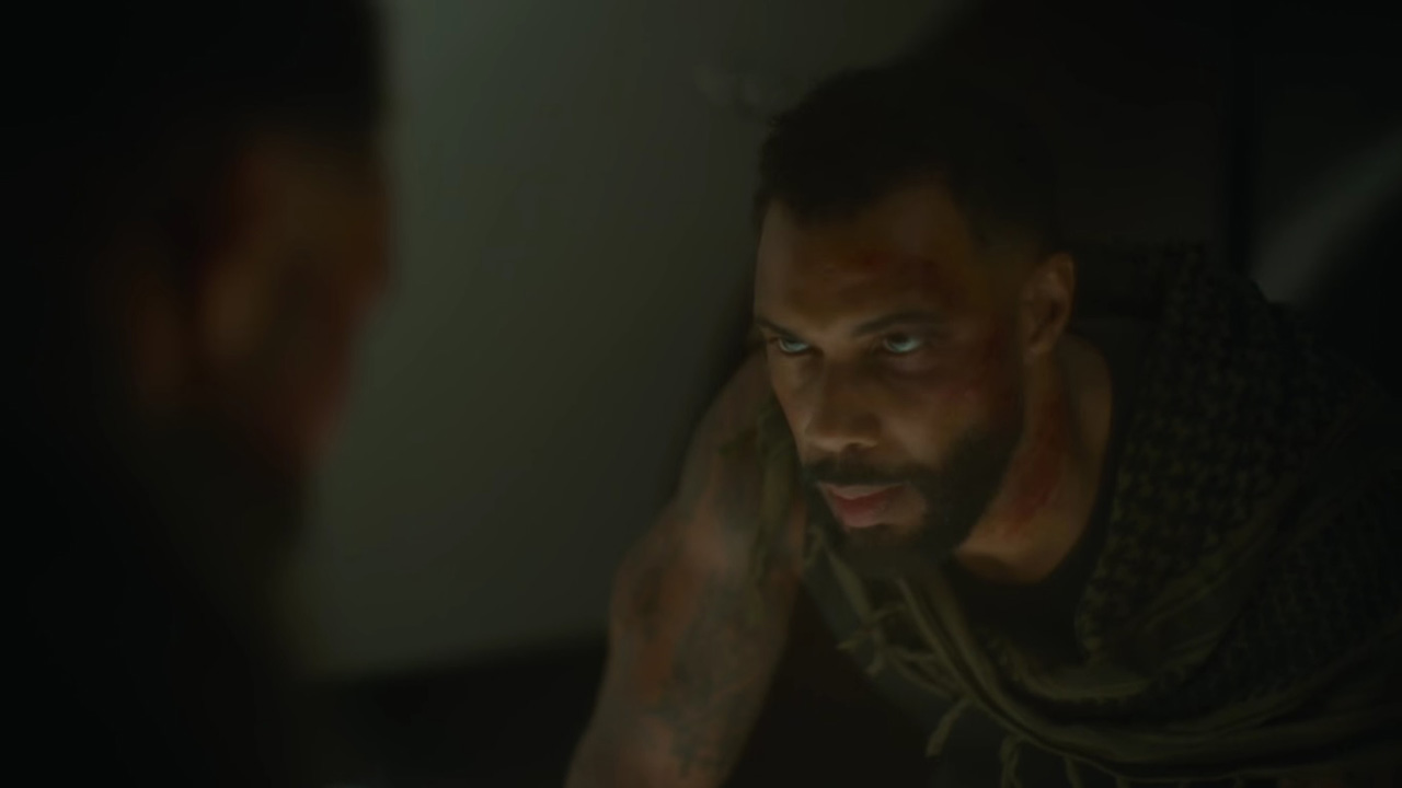 Omari Hardwick as Vanderohe during Army of the Dead's final scene