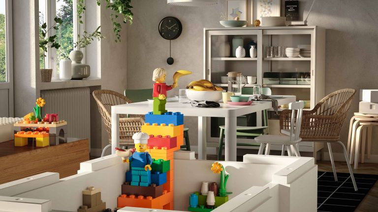 LEGO x IKEA: BYGGLEK collection in living room