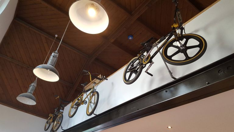 Bike storage ideas: wall mounted hooks