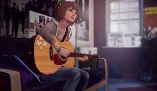 Girl playing a guitar in Life is Strange