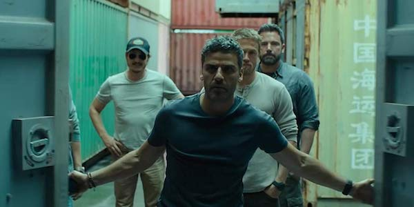 Ben Affleck, Charlie Hunnam, Oscar Issac and Pedro Pascal in Triple Frontier
