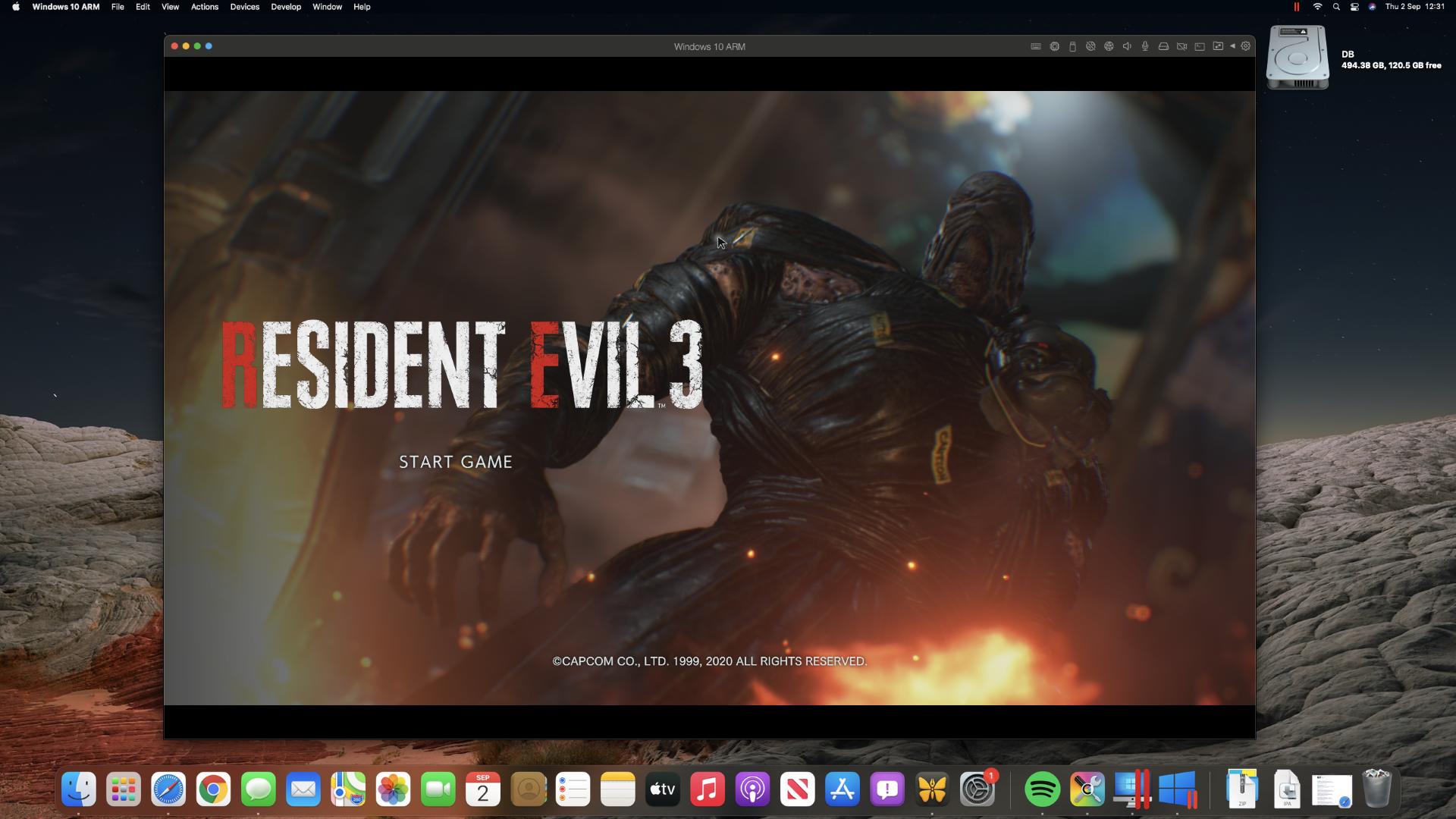 Resident Evil 3 Remake on an M1 Mac mini through Steam