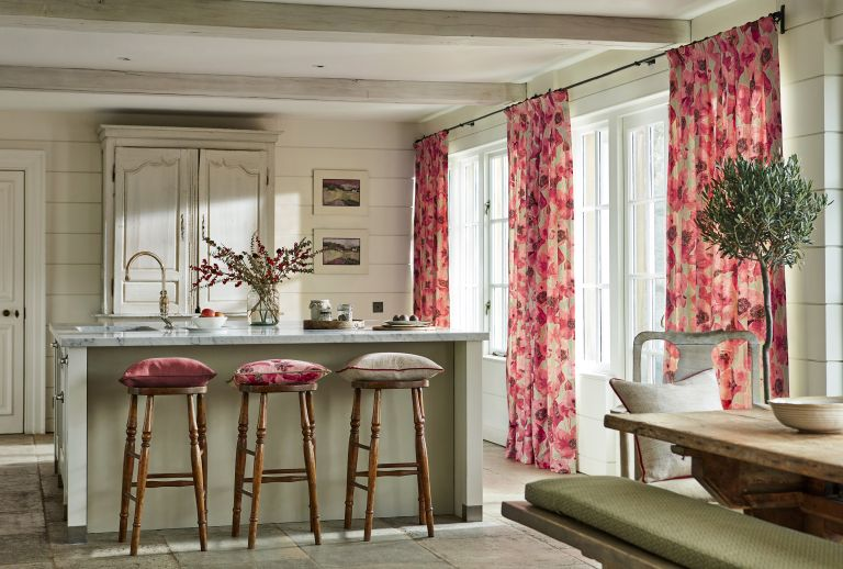 Kitchen With Statement Curtains