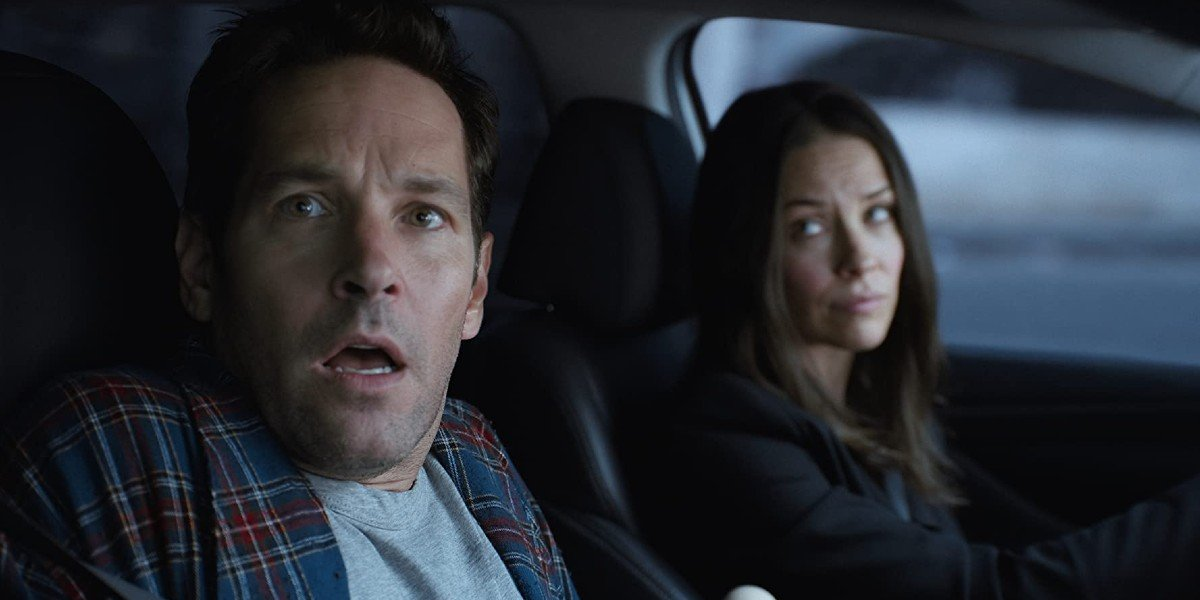 Paul Rudd and Evangeline Lily in Ant-Man and the Wasp